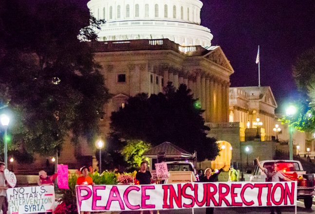 peace insurrection on capitol hill 2013 code pink. photo by cool revolution. e1545529460518