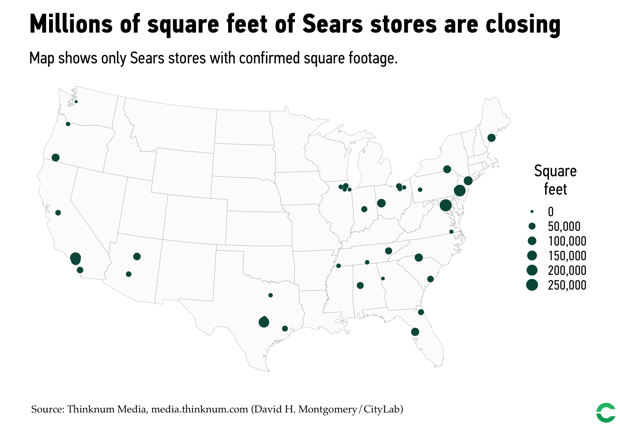 The 2018 Retail Apocalypse, In 6 Charts And A Map ... Sears Store Map on lg store map, schnucks store map, gnc store map, market basket store map, express store map, finish line store map, chicago store map, dillard's store map, ahold store map, albertsons store map, supervalu store map, brookshire's store map, pathmark store map, spirit halloween store map, old navy store map, gamestop store map, amazon store map, vons store map, radioshack store map, belk store map,