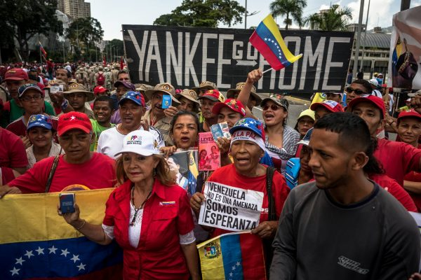 venezuela thousands attended to show their support for president maduro.credit meridith kohut for the new york times. 1 e1549220350693