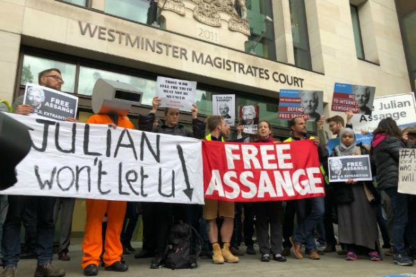 assange extradition protested at westminster magistrates court june 2019. photo by gareth corfield e1560708669714