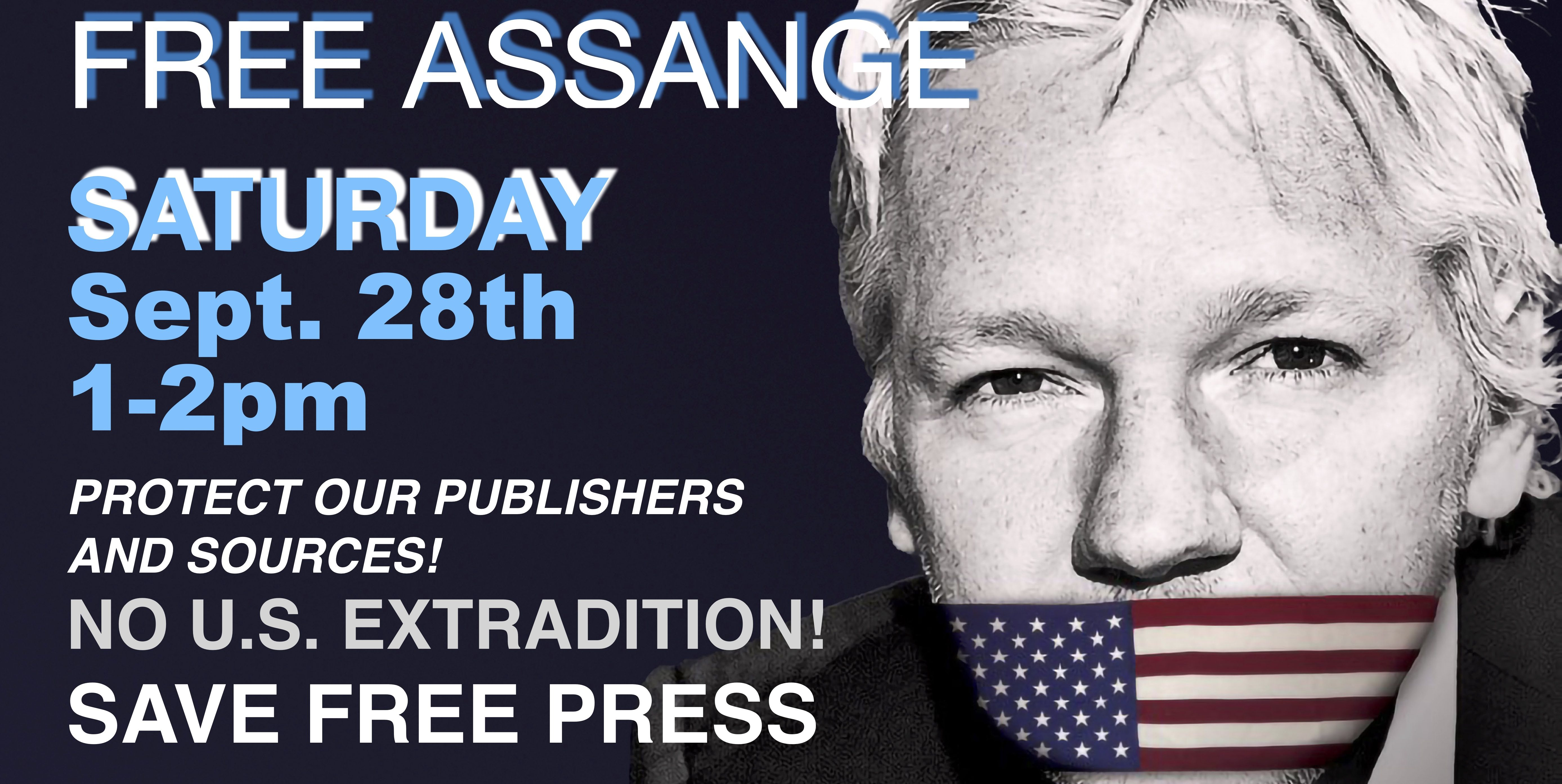 Actions Worldwide To Free Assange