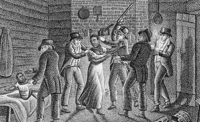 a alleged fugitive slave being seized. getty images. e1592772806196