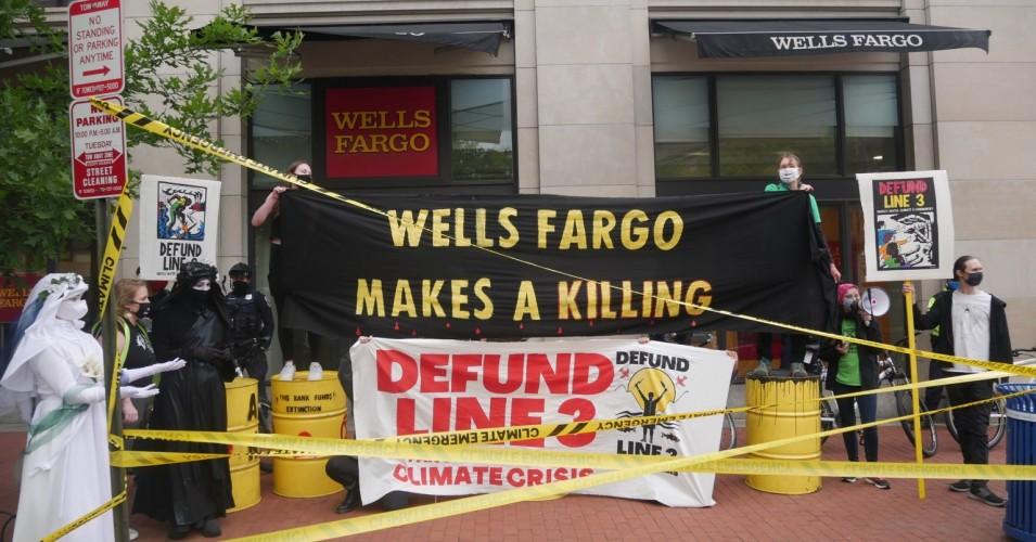 Global Protests Target Banks Funding Line 3 Pipeline