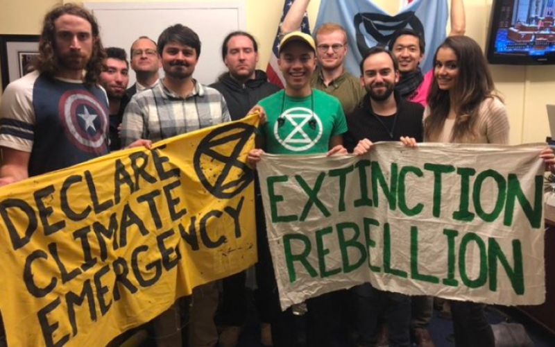 Hunger Strike Continues In Pelosi's Office By Extinction Rebellion